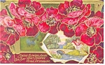 Embossed Sweet Flowers Postcard 1910