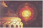 St Louis,MO, Cathedral Rose Window Postcard