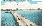 Click here to enlarge image and see more about item p12633: Boston, MA Harvard Bridge and MIT Postcard 1934