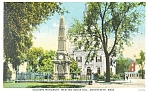Dorchester, MA Soldiers Monument Postcard 1930