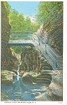Fairies Pool,Watkins Glen, NY, Postcard 1936