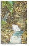 Minnehaha Falls,Watkins Glen, NY, Postcard 1936