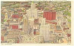 Buffalo NY Aerial View Civic Center Postcard p12675 1936