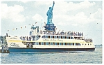 Click here to enlarge image and see more about item p12701: Circle Line Statue Ferry Postcard
