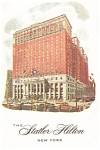 New York City NY Statler Hilton Postcard p12702
