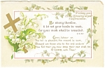 Click here to enlarge image and see more about item p12760: Confirmation Blessings  Card  p12760