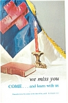 Click here to enlarge image and see more about item p12773: Come we miss you Postcard