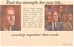 Click here to enlarge image and see more about item p12777: Find the Strength for your life Church Contact Postcard