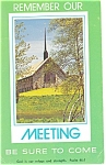 Click here to enlarge image and see more about item p12779: Remember Our Meeting Church Contact Postcard p12779  1979