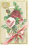 Roses Emblems of  Fond Love Postcard
