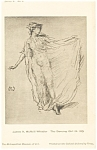 James Whistler Dancing Girl Artwork Postcard p12789