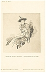 James Whistler Winged Hat Artwork Postcard p12790