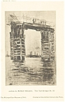 James Whistler Tall Bridge Artwork Postcard p12793