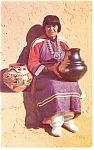 Click here to enlarge image and see more about item p12798: Maria, The Pottery Maker Postcard