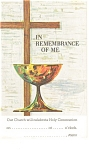 Click here to enlarge image and see more about item p12806: ...In Remembrance of Me Postcard