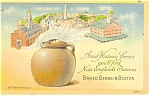 Click here to enlarge image and see more about item p12807: Baked Beans in Boston Postcard 1947