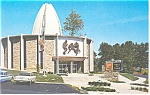 Click here to enlarge image and see more about item p12812: Canton OH NFL Hall of Fame Postcard p12812 Cars 60s