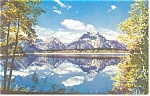 Jackson Lake and Teton Range WY Postcard p12837