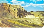 Click here to enlarge image and see more about item p12842: The Needles Ten Sleep Highway, WY Postcard