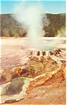 Punchbowl Spring Yellowstone National Park WY Postcard p12849