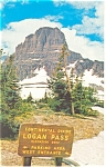 Click here to enlarge image and see more about item p12866: Logan Pass, Montana Postcard 1962
