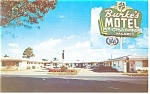 Burke's Motel Postcards Cars 40s