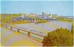 Richmond VA Skyline and James River  Postcard