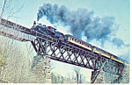 Green Mountain Railroad  No 89 Steam Loco Postcard p12904