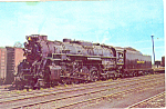 Nickel Plate Steam Loco No 763  Postcard p12911