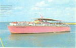 Big Flamingo Cruise Boat Postcard p12920