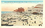 Click here to enlarge image and see more about item p12931: Atlantic City NJ Beach Scene Postcard p12931 1929