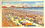 Click here to enlarge image and see more about item p12934: Atlantic City NJ Beach Scene Postcard p12934 1939