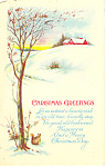 Christmas Greetings Postcard p12935