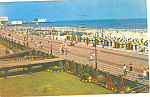 Click here to enlarge image and see more about item p12942: Atlantic City,NJ Beach Scene Postcard 1953