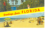 Click here to enlarge image and see more about item p12954: Citrus Groves and Beach Florida Postcard p12954 1966