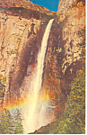 Bridalveil Falls Yosemite National Park CA Postcard p12974 1965