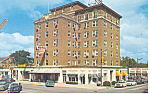 Waycross, GA, Hotel Ware Cars 50s Postcard 1958