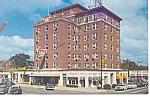 Waycross, GA, Hotel Ware Cars 50s Postcard 1962