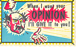 When I want your opinion Comic Postcard p12987