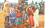 Indian Village Lake George New York Postcard p12992 1957