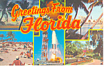 Greetings From Florida Multiview Postcard