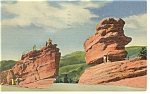 Click here to enlarge image and see more about item p13015: Garden Of The Gods CO Steamboat Rock Postcard p13015