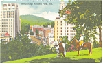 Hot Springs Mountain Hot Springs National Park Postcard p13020
