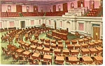 Washington, DC, US Senate Chamber Postcard 1910