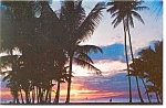 Sunset in Hawaii Postcard 1980