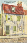 Click here to enlarge image and see more about item p13091: Charleston SC Pink House Tavern Postcard p13091 1948