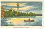 McBee, SC Rowboat and Lake Postcard 1944