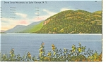 Lake George NY Deer Leap Mountain Postcard p13167