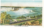Michigan Central Steam Train at Niagara Falls Postcard p13179