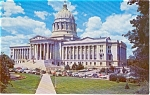 Jefferson City MO State Capitol Postcard p1317